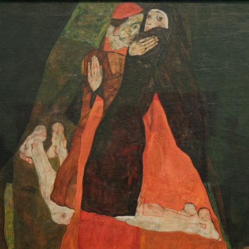 """Egon Schiele, """"Cardinalul și călugărița"""""""