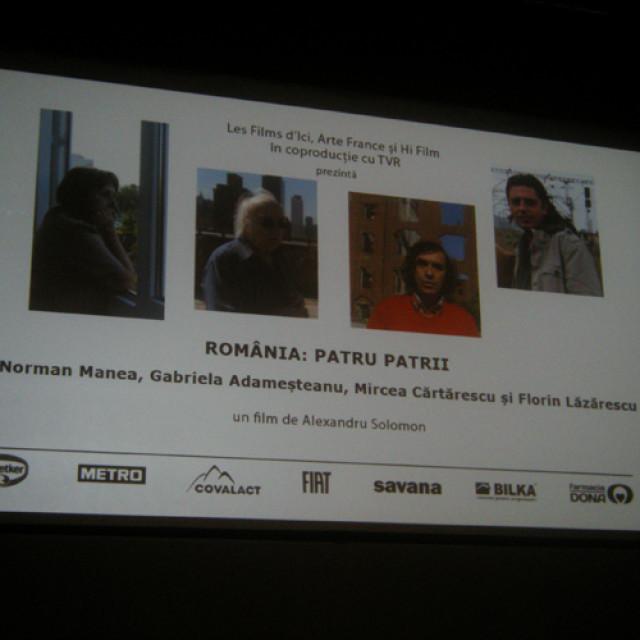 """Despre """"România: patru patrii"""", în dialog cu spectatorii"""